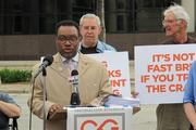 """Rev. Carl Griffin of New Life Baptist Church, a co-chair of the Fair Play campaign, said the current state of Milwaukee County public school athletic facilities is """"unacceptable."""""""