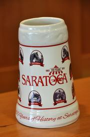 A beer stein with fan picks of legendary Saratoga race horses is one of the 2013 Saratoga giveaways. This will be given away to fans (with paid admission) on Sun., Sept. 1.
