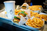 Burgers and fries are Shake Shack's specialty.