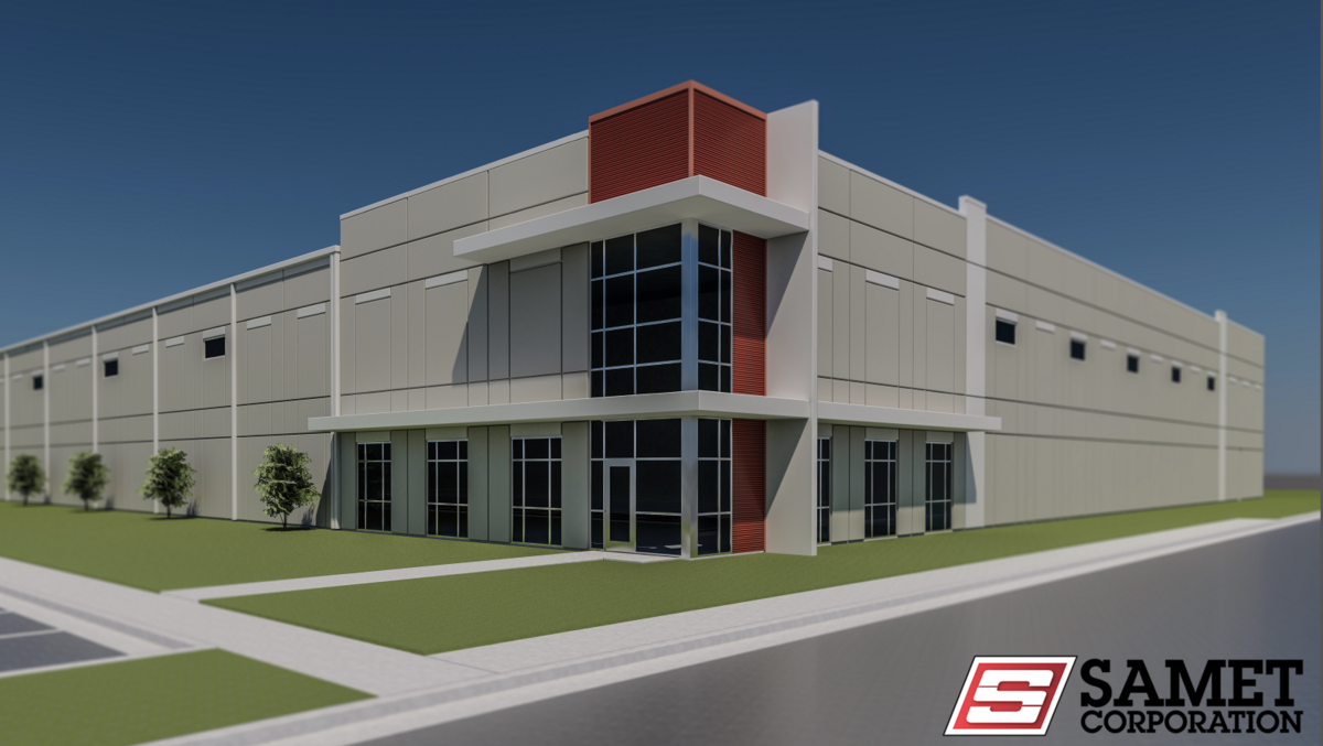 Samet to build industrial spec building at piedmont for Building a spec house