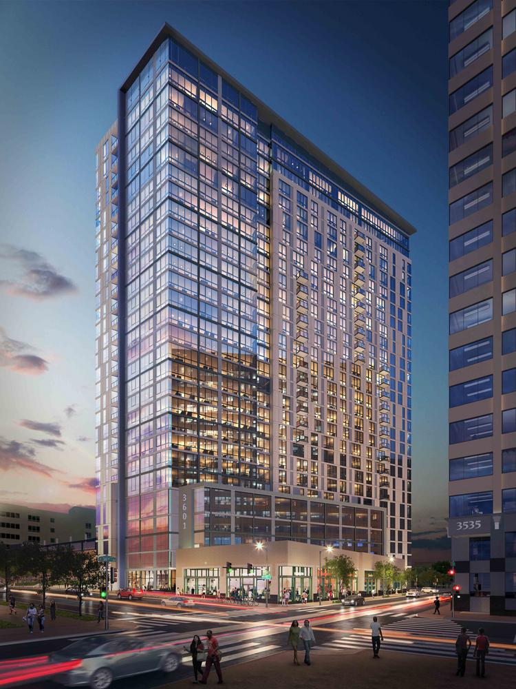 A rendering of 3601 Market St.