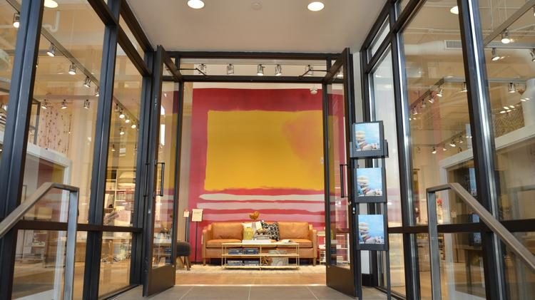 the entrance to west elm milwaukee which traditionally features a taste of this seasons trends - West Elm Store