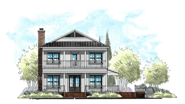 An Artist Rendering Of The Two Story Home That Will Be Built Inside Everbank Field
