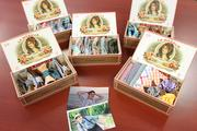 Ella Bing's bow ties are packaged in Tampa cigar boxes surrounded by photos of Matthew Kraus, who died in 2010.