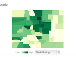 Tech hubs: How do Colorado counties rate? (Interactive graphic)