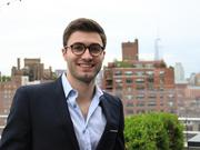 The founder and president of Alice App, Alexander Shashou, 25, on the rooftop of the Gansevoort Hotel in the Meatpacking District, one of his client properties.