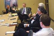 """Commercial real estate leaders gather at the KCBJ offices to discuss all four """"food groups"""" for the industry: industrial, multifamily, office and retail."""