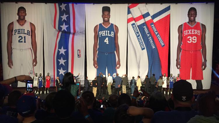 9e42a17cd89 Sixers' new uniforms unveiled - Philadelphia Business Journal
