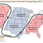 Expect a cooler, wetter summer