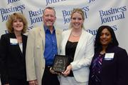 No. 25 CTI Resource management Services Inc.Medium categoryKelley, HR, and Chris Imbach, CEO, accepting one of the Business Journal's 2013 Healthiest Companies award.