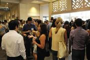 Guests mingle at the Hawaii Convention Center during PBN's Forty Under 40 event.