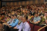 PBN's Forty Under 40 Class of 2013 waits for the program to start in the theater at the Hawaii Convention Center.