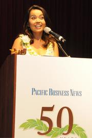 KITV anchor Yunji de Nies was the emcee for PBN's 2013 Forty Under 40 event.
