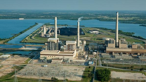 The Deely Plant Off San Antonio S Calaveras Lake Which Generates Nearly 1 000 Megawatts Of