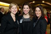 From left, Elizabeth Chambers and Jessica Andrews of Aegis Living and Lisa Eskenazy during the Puget Sound Business CFO of the Year Awards at the Grand Hyatt in Seattle on Thursday.