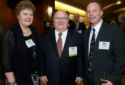 From left, Nicole Wood, Jim Wood of Northwest Center and Rick Bingle during the Puget Sound Business CFO of the Year Awards at the Grand Hyatt in Seattle on Thursday.