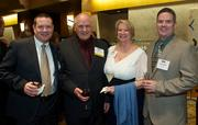 From left, Joe Hulscher of Public Storage, Ron Hulscher of Grays Harbor County Public Hospital District No. 1, Sherry Hulscher and Terry Hulscher of Starbucks during the Puget Sound Business CFO of the Year Awards at the Grand Hyatt in Seattle on Thursday.