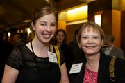 Lauren Day, left, of Summit Pacific Medical Center and Brenda West of Summit Pacific Medical Center during the Puget Sound Business CFO of the Year Awards at the Grand Hyatt in Seattle on Thursday.