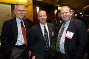 From left ,Brian Volkert of Northwest Center, Rick Bingle and David McRae during the Puget Sound Business CFO of the Year Awards at the Grand Hyatt in Seattle on Thursday.