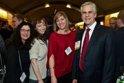 From left, Tracy Schneider, Alyson Barham, Cheryl Sjolseth and Bryceon Sumner of Callison during the Puget Sound Business CFO of the Year Awards at the Grand Hyatt in Seattle on Thursday.