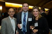 From left, Rich Shevak, Kevin Hinton and Liza Zbarskaya of Grant Thornton during the Puget Sound Business CFO of the Year Awards at the Grand Hyatt in Seattle on Thursday.