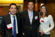 From left, Trevor Boll of Deloitte, Aaron Brown of Deloitte and Beth Nagy of Wells Fargo during the Puget Sound Business CFO of the Year Awards at the Grand Hyatt in Seattle Thursday March 7, 2013.