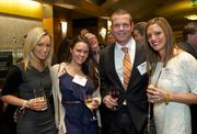 From left Courtney Rosellini of Two Degrees, Kaleigh Morrison of Syracuse University, Kevin Daniel and Patty Brown of Tow Degrees during the Puget Sound Business CFO of the Year Awards at the Grand Hyatt in Seattle on Thursday.