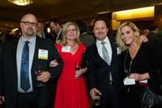 From left, Dohn Johnson of Ammex Corp., Carol Johnson and Don Heisler and Molly Dore of Deloitte during the Puget Sound Business CFO of the Year Awards at the Grand Hyatt in Seattle on Thursday.