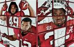 Who made the cover of the Alabama football media guide?