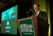 Ben Donora of Zurich Insurance during the Puget Sound Business CFO of the Year Awards at the Grand Hyatt in Seattle on Thursday.