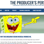 SpongeBob's headed for Broadway, and he's got one producer worried