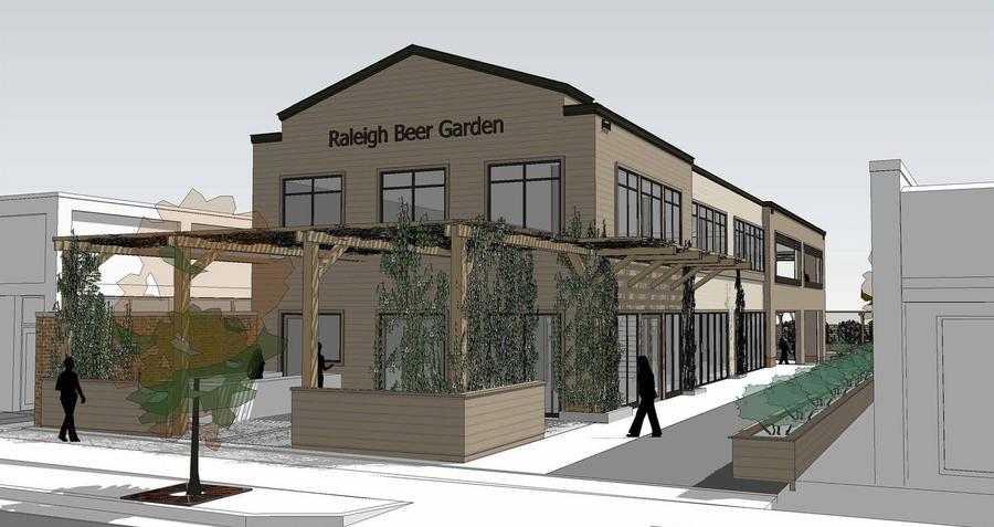 raleigh beer garden rendering - Raleigh Beer Garden