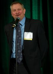 Alan Elser of GM Nameplate during the Puget Sound Business CFO of the Year Awards at the Grand Hyatt in Seattle on Thursday.