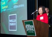 Mary Knell of Wells Fargo during the Puget Sound Business CFO of the Year Awards at the Grand Hyatt in Seattle on Thursday.