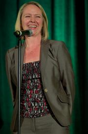 Hope Cochran of Clearwire Corp. during the Puget Sound Business CFO of the Year Awards at the Grand Hyatt in Seattle on Thursday.