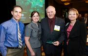From left, Will Callicoat and Renee Jensen of Summit Medical, Ron Hulscher of Grays Harbor County Public Hospital District No. 1 and Brenda West of Summit Medical Center during the Puget Sound Business CFO of the Year Awards at the Grand Hyatt in Seattle on Thursday.