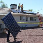 First of 1,500 free APS solar systems installed in Phoenix home