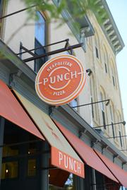 Exterior of the Punch Pizza in northeast Minneapolis.