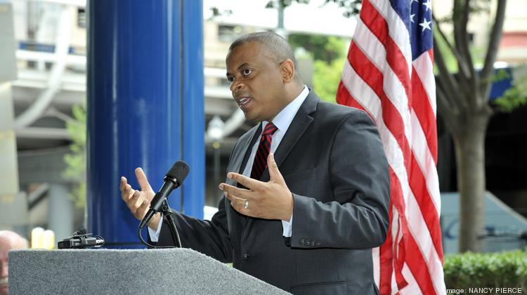 Transportation Secretary Anthony Foxx was in Charlotte last month to cut the ribbon for the uptown streetcar.