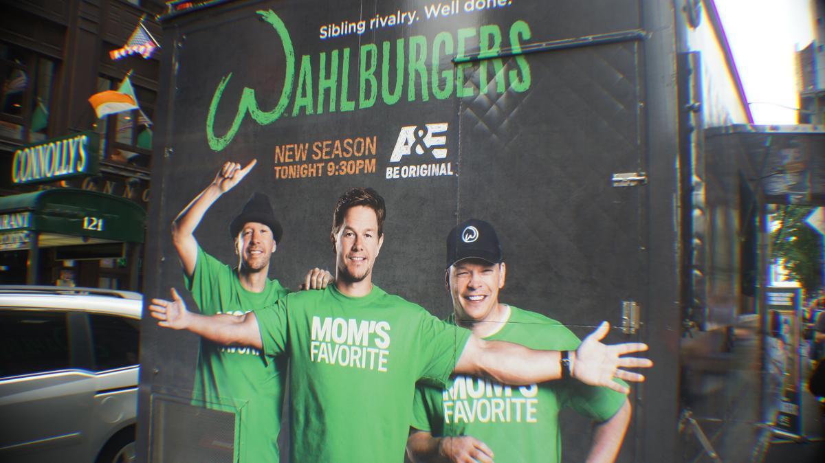 Wahlberg brothers look...