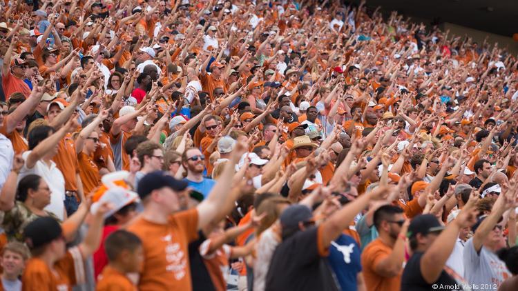 Attendance at UT Longhorns football games grew in 2016