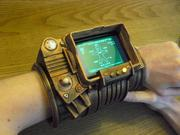 Movie and Video Game Props One of the first things many designers do when they get a 3-D printer is try to replicate props from their favorite movies and games, so there's a treasure trove of such designs floating around. Above is pictured a replica of the Pipboy device from the popular Fallout series of games, complete with a slot for a smartphone, which enables it to be a functional smartwatch. Check it out at Thingiverse, where there's a lot of other prop designs as well.