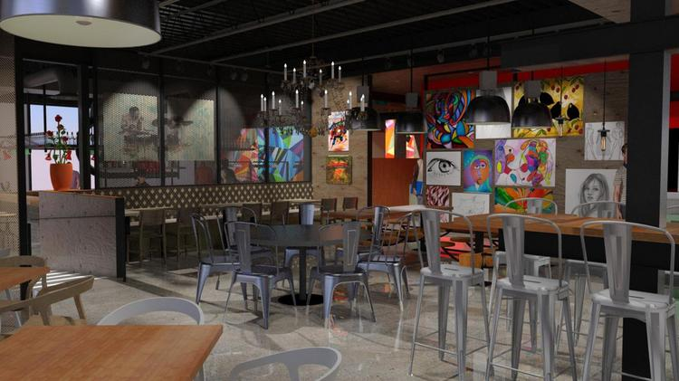 Art From Rotating Local Artists Will Decorate The Restaurant Which Is Called Palette 22 To