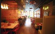 Inside Bareburger's Chelsea location.