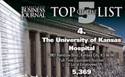 4. The University of Kansas Hospital, Kansas City, Kan., 5,369