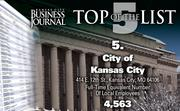 5. City of Kansas City, Mo., 4,563