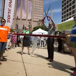 Free food draws big crowd for first day of Downtown Employee Appreciation Week: Slideshow