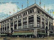A vintage postcard shows the Sears Building