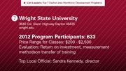 Wright State University has the No. 7 workforce development program.