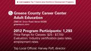 Greene County Career Center Adult Education has the No. 5 workforce development program.